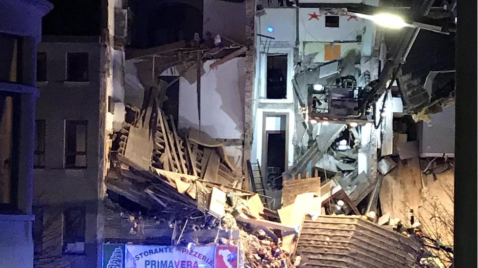 Antwerp: Belgium building collapses in explosion