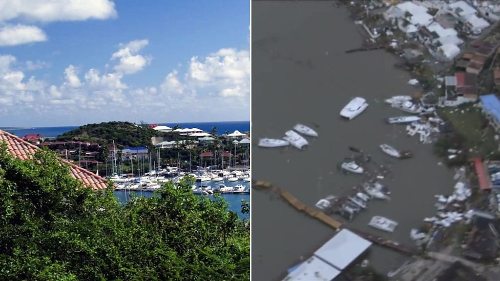 Hurricane Irma: St Martin before and after