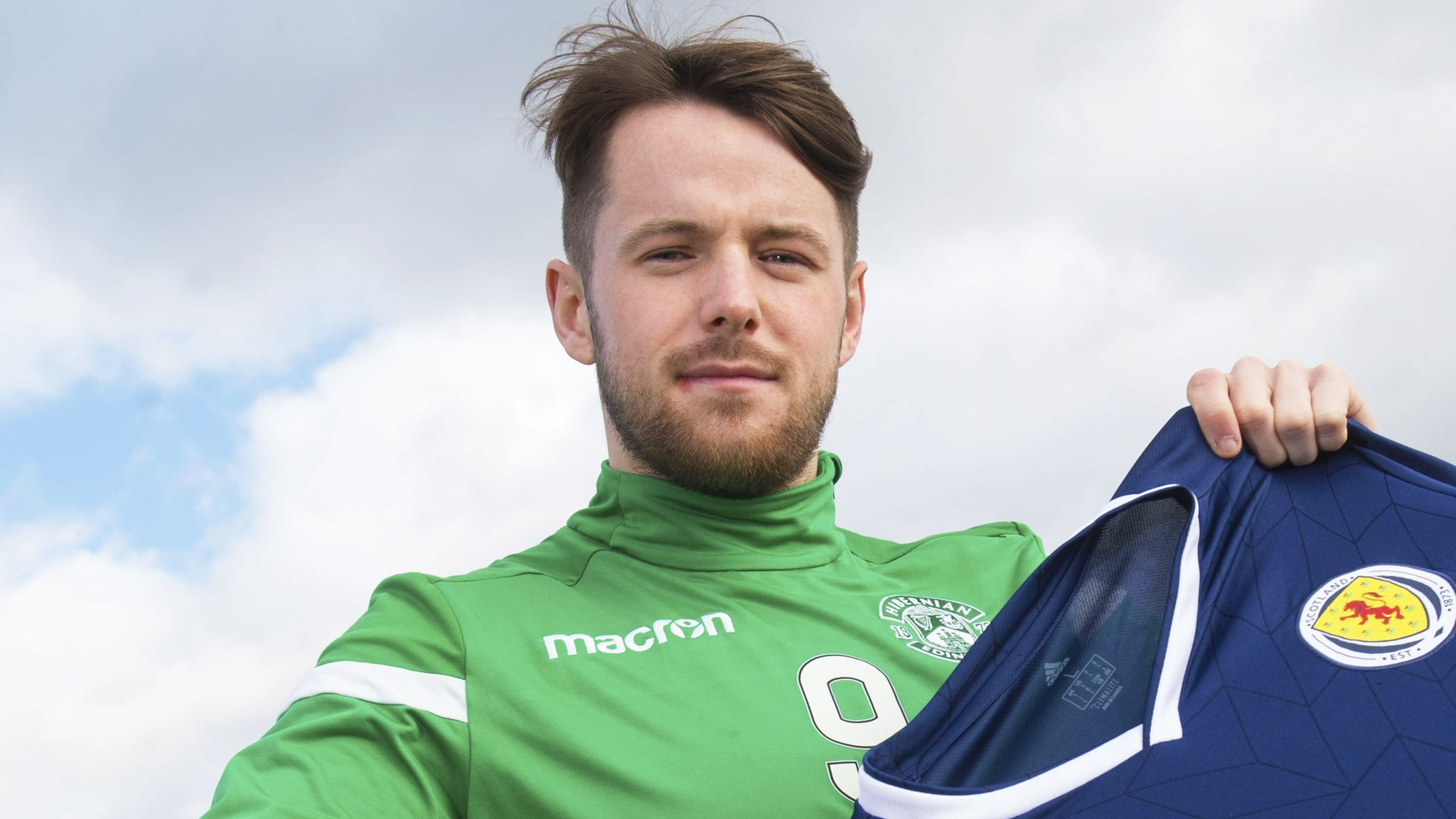 Hibernian: Marc McNulty heard of Scotland call up on Twitter