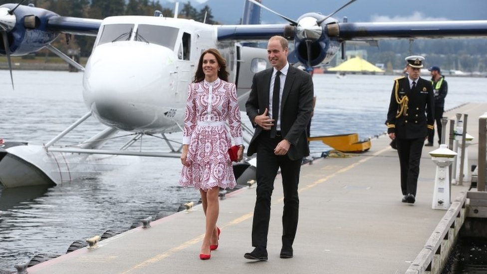William and Kate travel in sea plane on tour of Canada