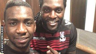 Yannick Bolasie and Emmanuel Adebayor