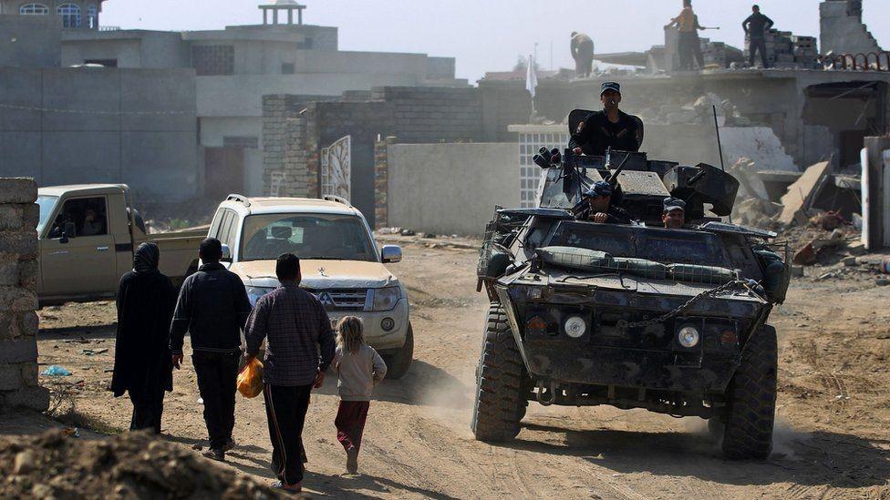 قوات عراقية في منطقة الجوسق
