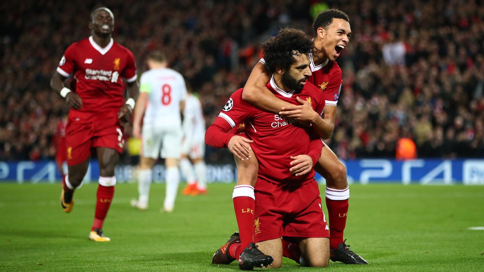 Champions League: Liverpool in knock-out stages after 7 goal win! - CBBC Newsround