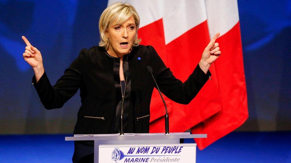مارين لوبان زعيمة الجبهة الوطنية اليمينية في فرنسا