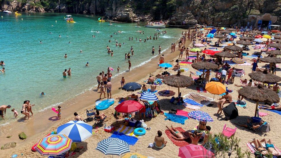 Cala Aiguablava Beach, near Girona in Spain