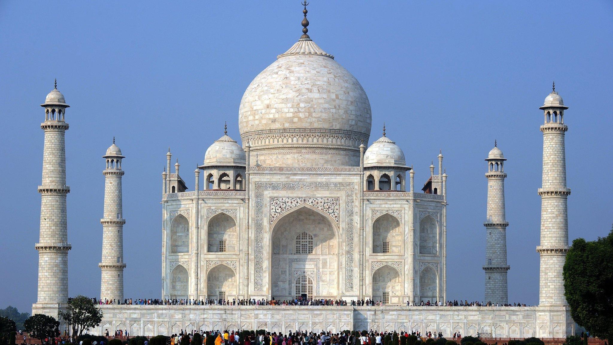 Insect Poo Turning Taj Mahal In India Green Cbbc Newsround