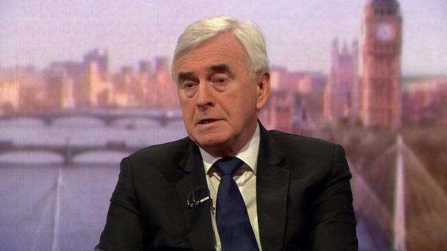 Labour split 'would be like 1980s' - John McDonnell