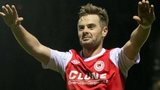 Greg Bolger celebrates with St Patrick's Athletic