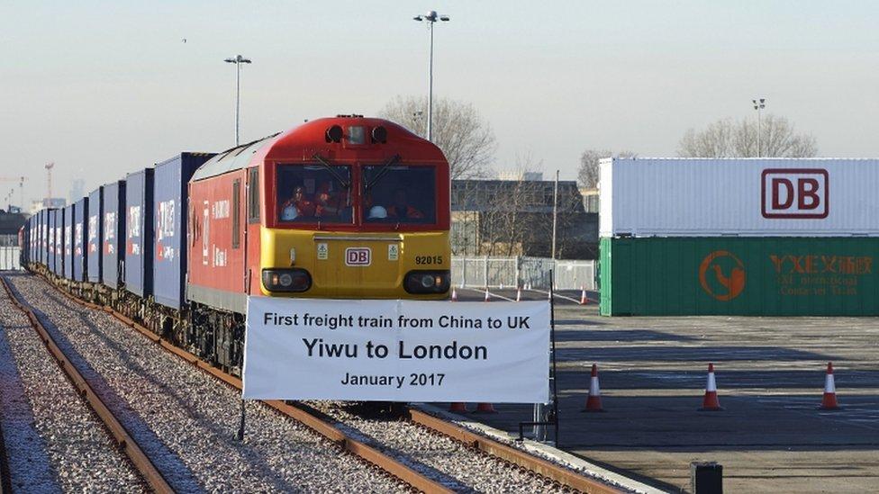 途經七國外加一個海底隧道 首列英國開往中國義烏貨運列車啟程