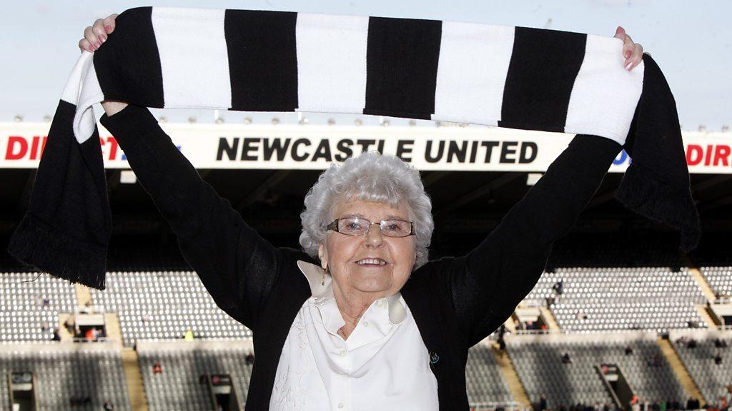 Newcastle United tea lady Kath Cassidy dies aged 90