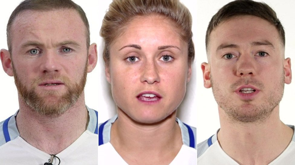 Football sex abuse: England captains make child safety film