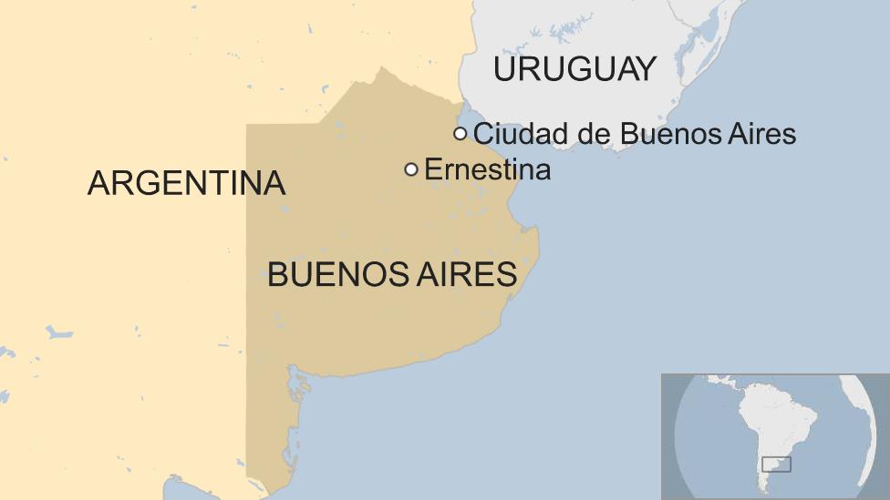 Mapa Ernestina.