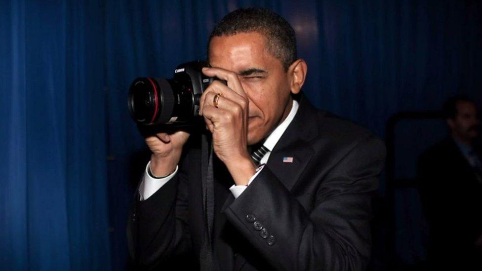 Taking two million photos of Obama
