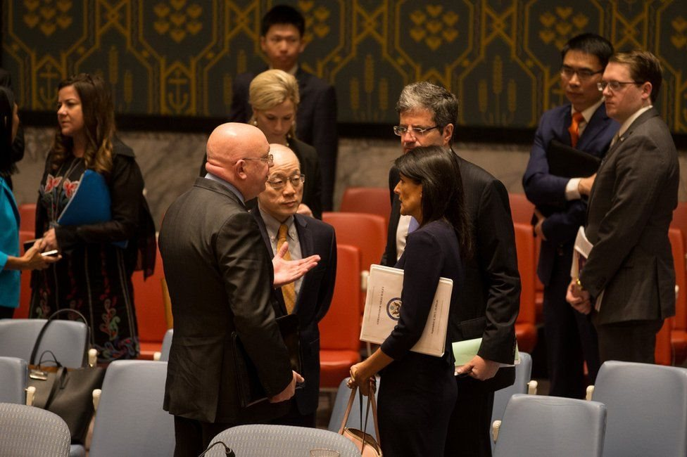 مبعوثو القوى الكبرى في مجلس الأمن