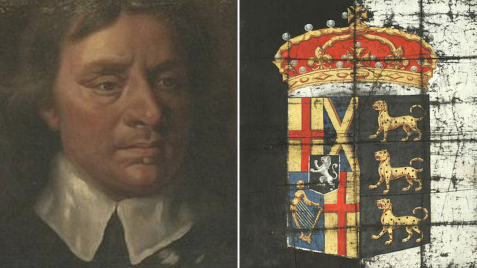 Oliver Cromwell's 'rare' funeral banner sells for £16k