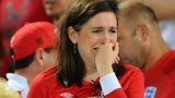 England supporter crying