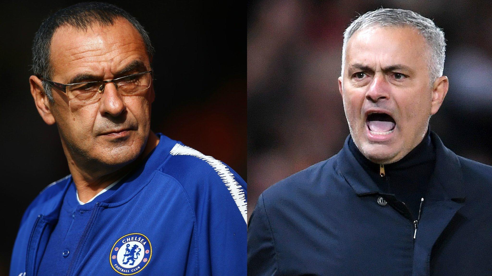 Maurizio Sarri: Chelsea boss says Man Utd's Jose Mourinho deserves respect | BBC