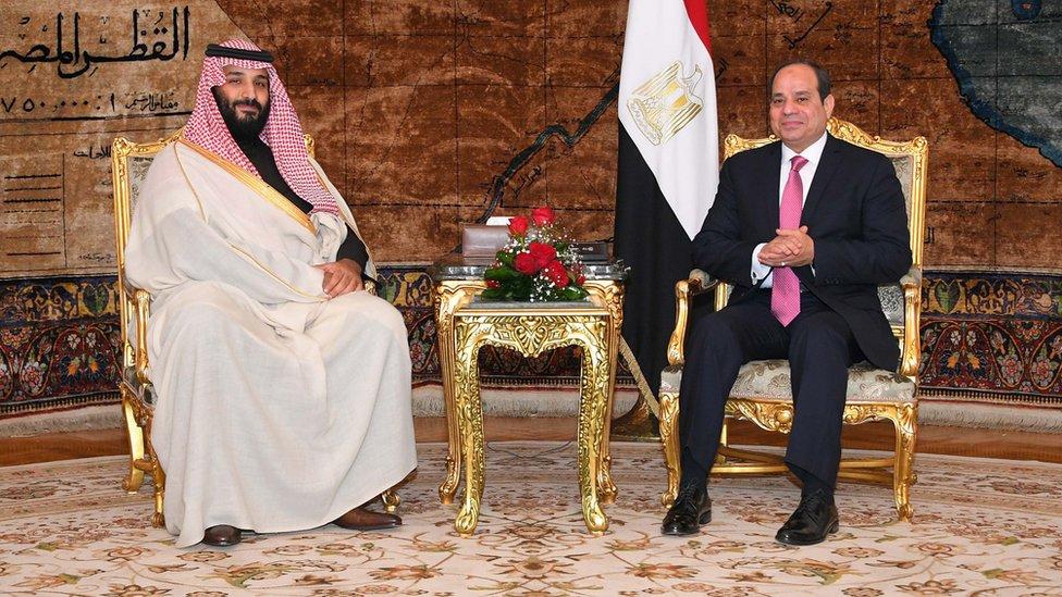 عبد الفتاح السيسي ومحمد بن سلمان
