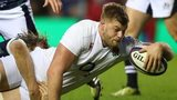 George Kruis scores a try for Enfgand