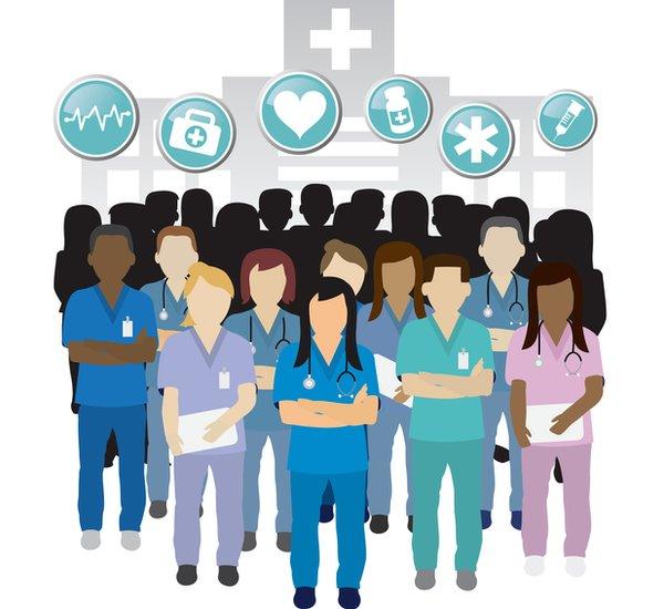 Ilustración médicos.