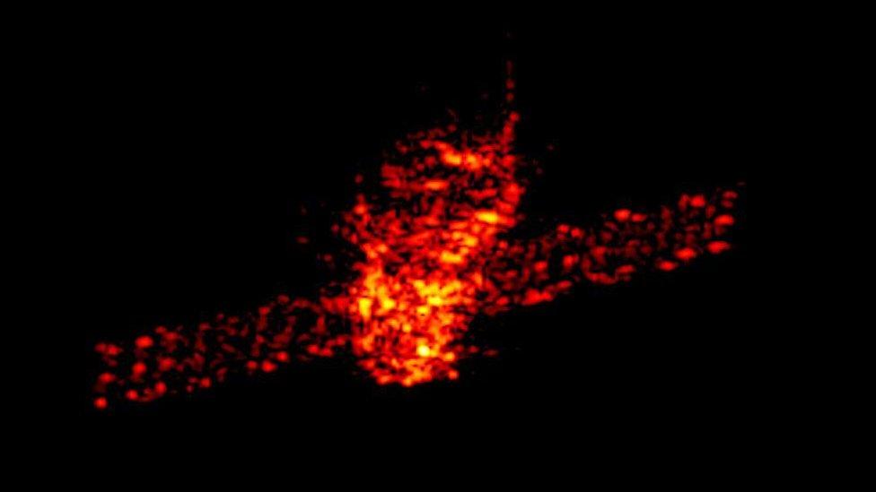 Radar image of Tiangong