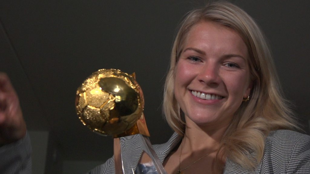 Ada Hegerberg 'emotional' after winning BBC Women's Footballer of the Year