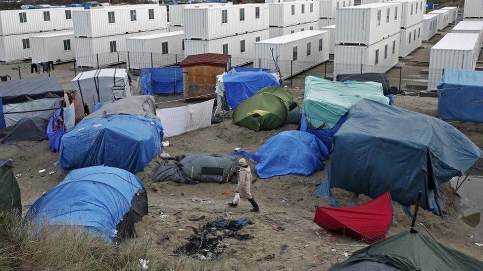El campo de migrantes La Jungla, en Calais, Francia.