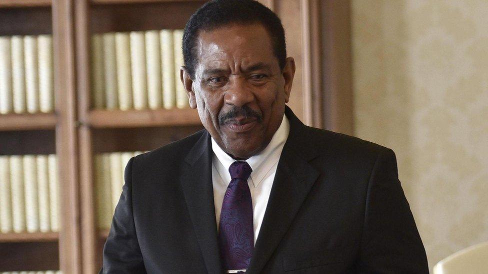 Dominica President Charles Savarin