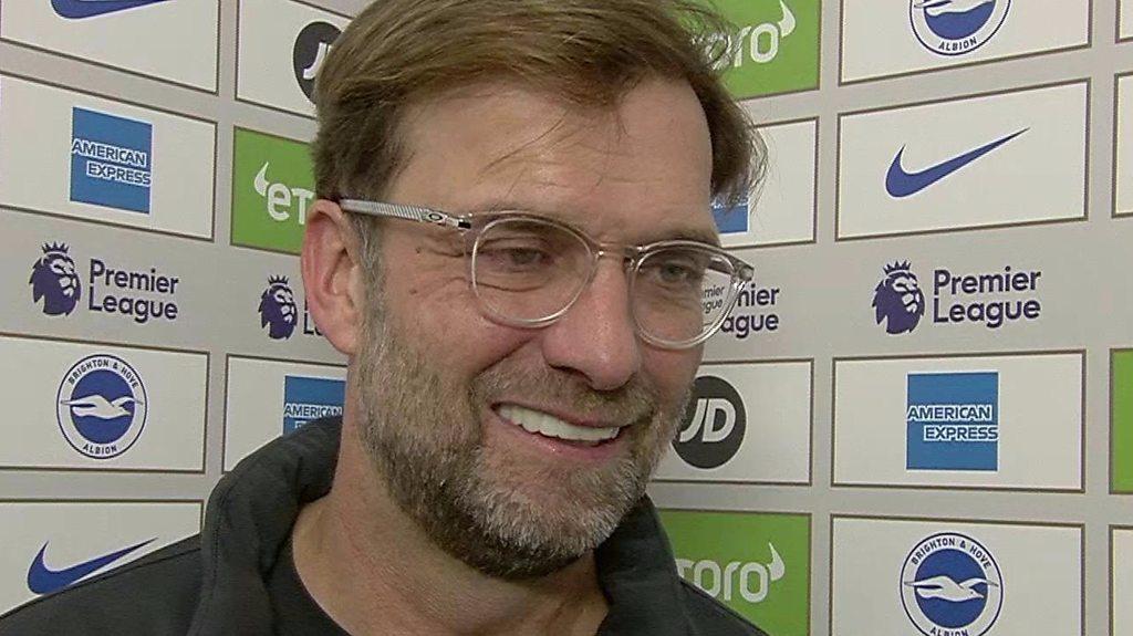Brighton 0-1 Liverpool: Jurgen Klopp says Reds were 'absolutely' deserved winners