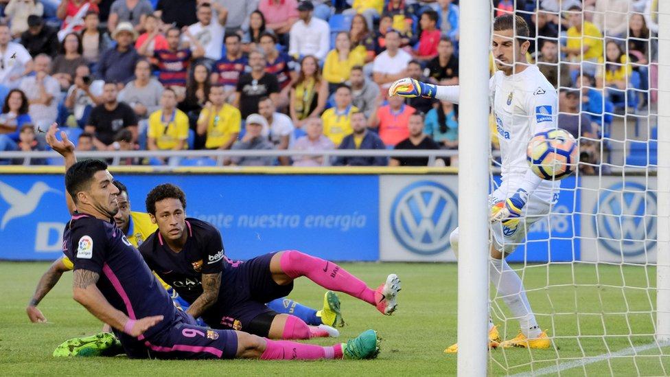 سواريز يسجل هدفا امام لاس بالماس