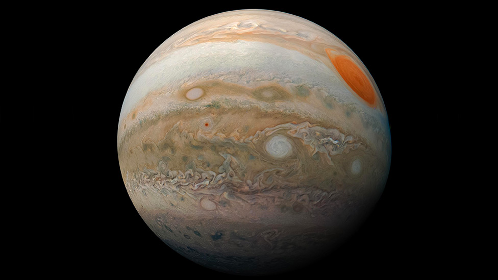 Planet Jupiter: Spectacular picture of Jupiter's storms