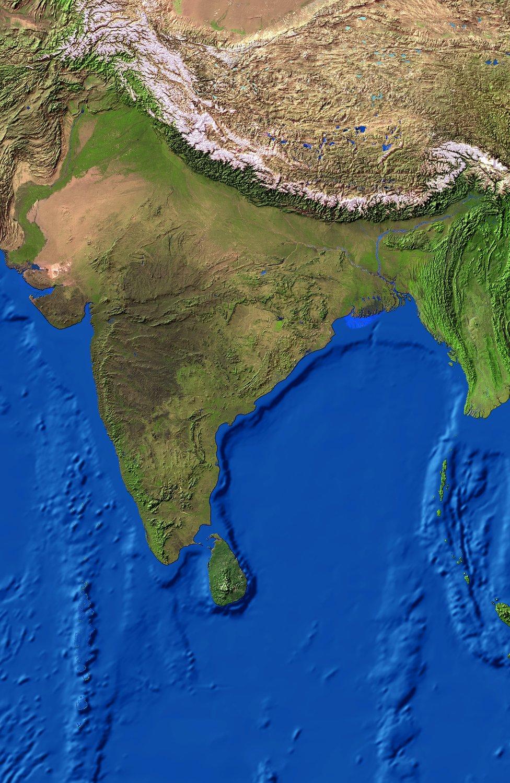 印度衛星地圖