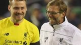 Liverpool goalkeeper Simon Mignolet (left) with manager Jurgen Klopp