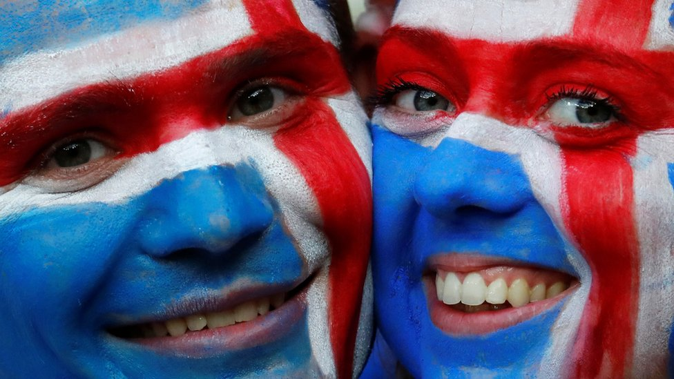 Iceland fans celebrate Euro 2016 win against England