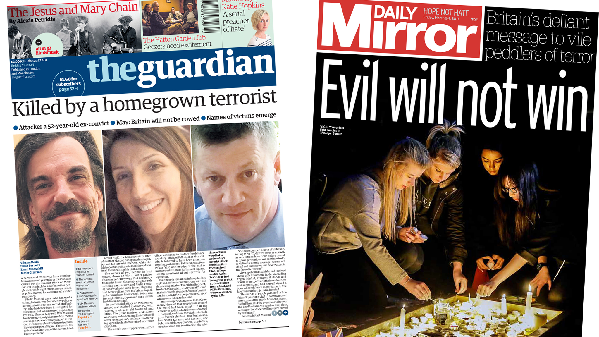 'The homegrown terrorist' and UK's 'defiant' response