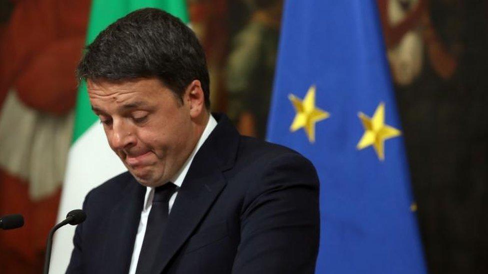 Primer ministro italiano Matteo Renzi.