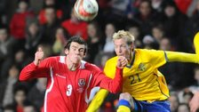 Gareth Bale in action against Sweden in 2010