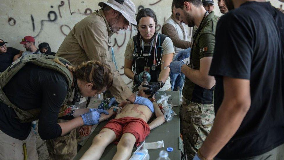 Un centro de atención médica en Mosul