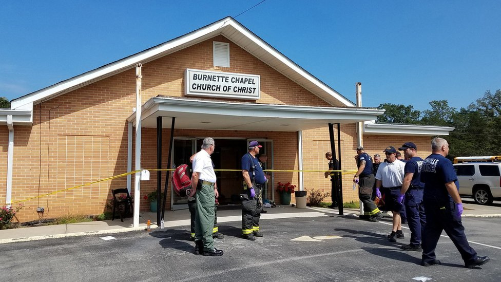 Tennessee church shooting halted by 'extraordinarily brave' usher