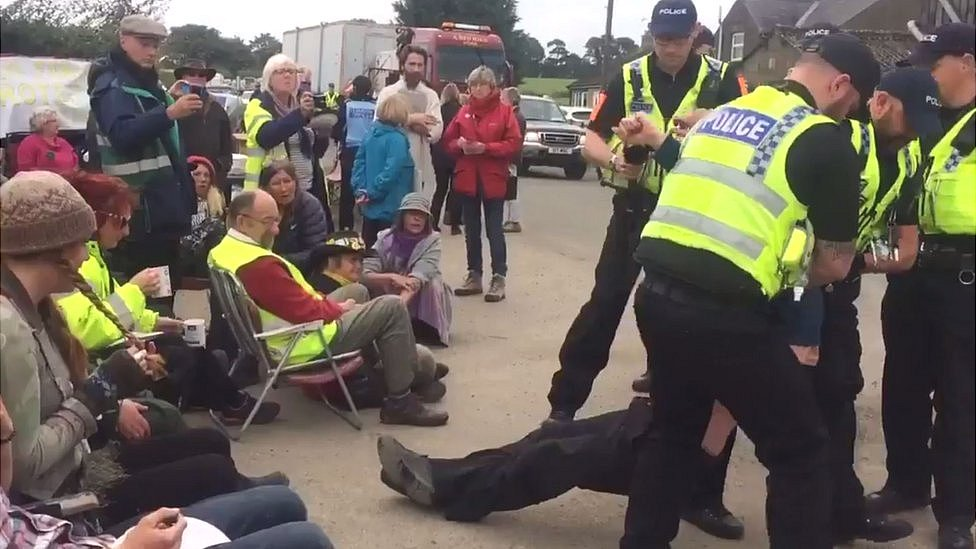 Five More Charged over Fracking Protests in North Yorkshire