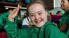Dearbhail Savage won an equestrian gold medal at the Special Olympics World Summer Games in Los Angeles on Wednesday