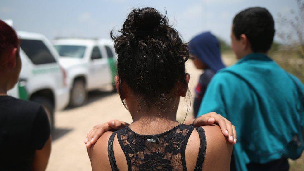 Una joven inmigrante.