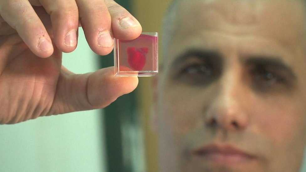 Israeli scientists 'print 3D heart using human tissue'