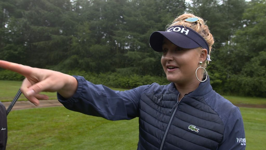 Charley Hull: Falling squirrel interrupts interview with golfer