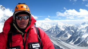 Khoo Swee Chiow at the top of K2
