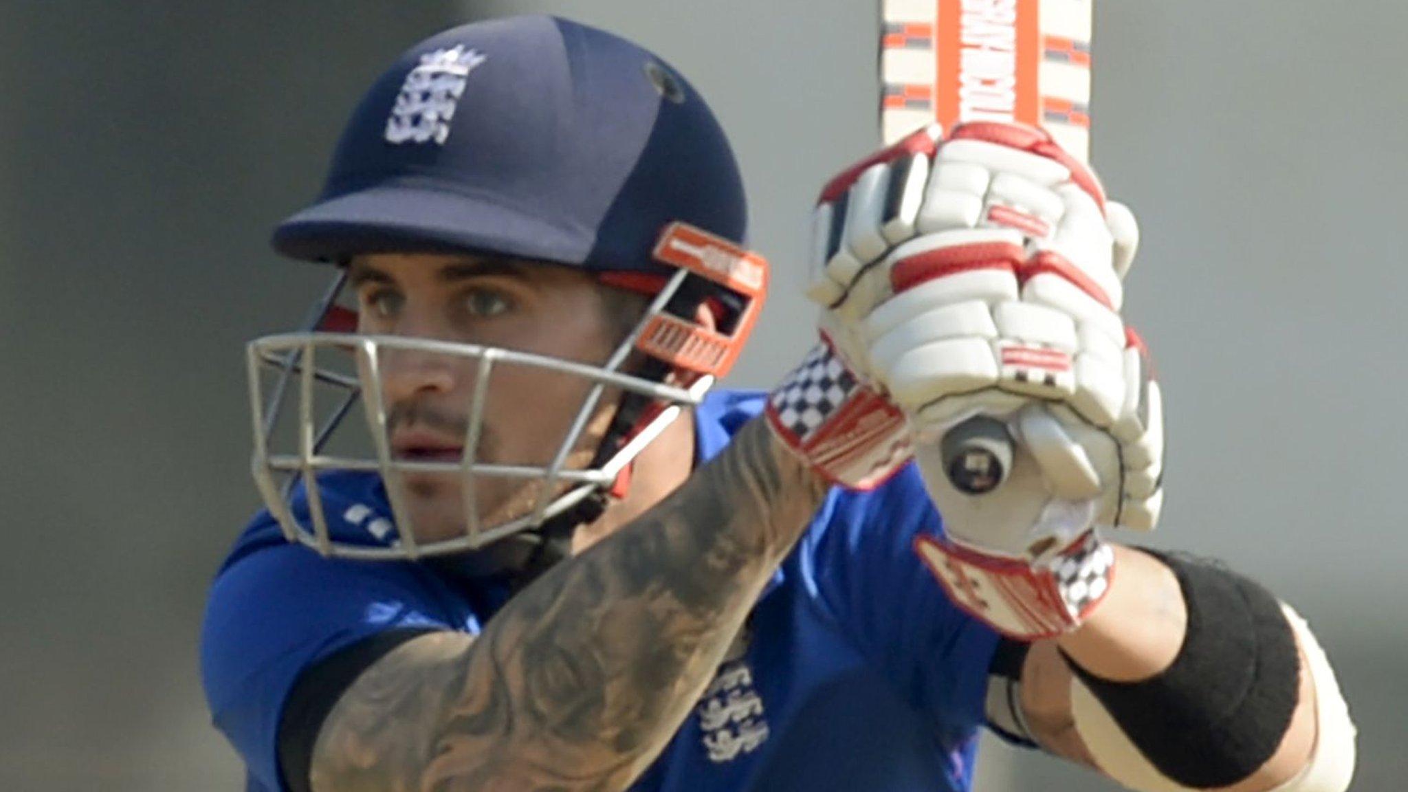 England: Alex Hales to miss rest of India tour through injury