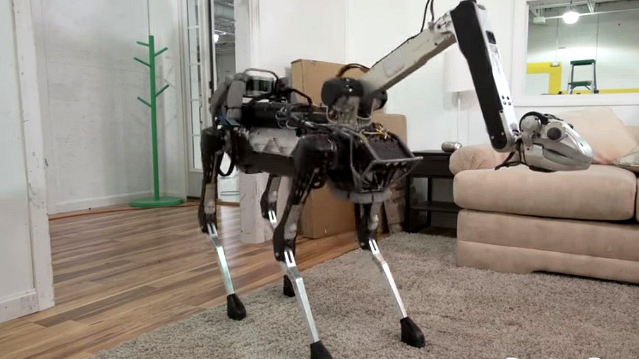 Google's SpotMini robot loads the dishwasher