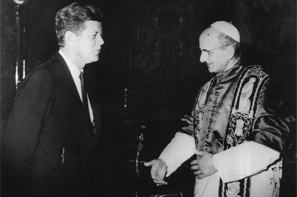 JFK with Pope Paul VI