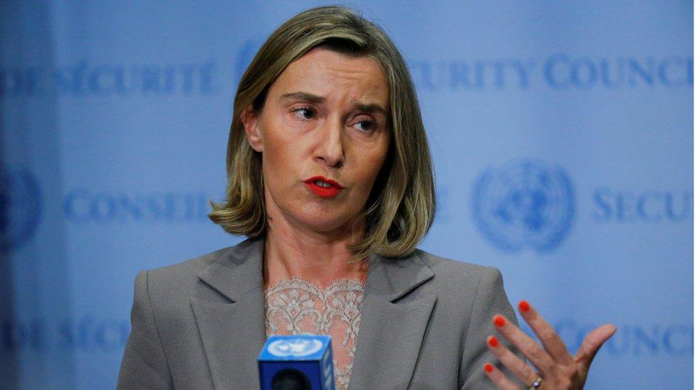 وزيرة الاتحاد الأوروبي فيديريكا موغيرني