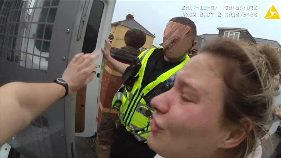 Bodycam footage shows pregnant Traveller's Cardiff arrest